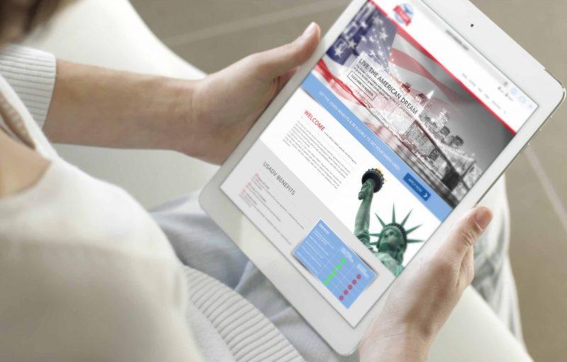 עיצוב אתר רספונסיבי עבור חברת USA DV