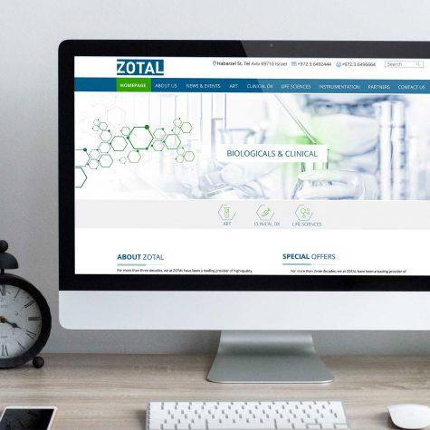 עיצוב אתר לשירותי ביוטכנולוגיה